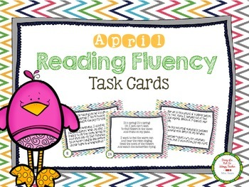 April Reading Fluency Task Cards
