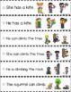 April Reading Fluency and Comprehension Sentence Strip