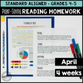 April Reading Homework for 4th & 5th Financial Literacy Th