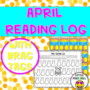 April Reading Log & Brag Tags