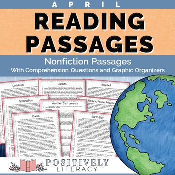 April Reading Passages- Nonfiction Text & Comprehension Ac