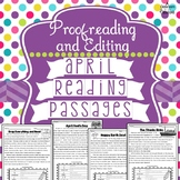 April Reading Passages: Proofreading and Editing with Comprehension Questions