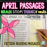 FREE April Reading Passages with Built in Stop Think and Write