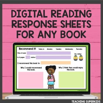 Reading Response Sheets for April