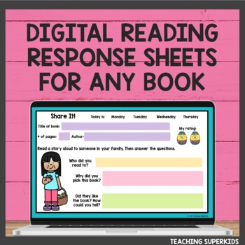 Reading Response Sheets for April