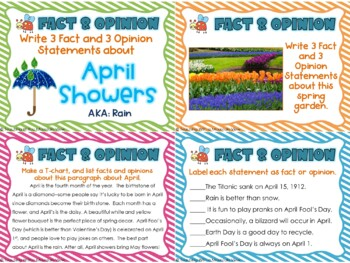 April Reading Skills and Enrichment Task Cards SPRING *Aligned to Common Core*