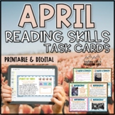 April Reading Skills and Enrichment Task Cards SPRING *Ali