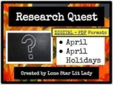 April Research Quest for Early Finishers (Digital + PDF)
