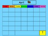 April SMART Board Calendar Math for Kindergarten