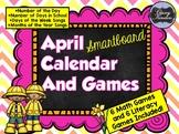 April SMARTboard Calendar and Games!