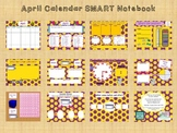 April SMART notebook calendar and journal page