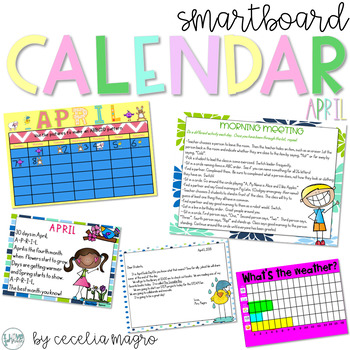 April SMARTBoard Calendar ***Common Core Aligned***