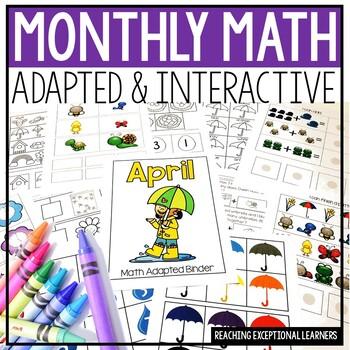 April SPED Math Adapted Workbook