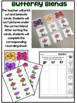 April {SPRING} Literacy Centers for Kindergarten