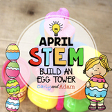 Easter Egg Tower April STEM Activity