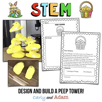 April STEM Challenge: Peep Tower - NGSS Aligned