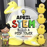 April Easter Peep Tower STEM Activity