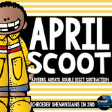 April Scooting through the year - 2 digit subtraction, Arrays, Adverbs