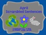 April Scrambled Sentences