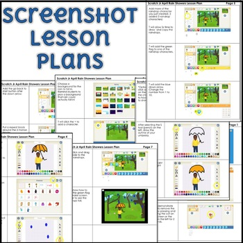 April Scratch Jr Programming Lesson Plan - Rain Showers