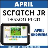 April Scratch Jr Programming Lesson Plan - Rain Showers
