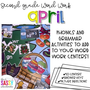April Second Grade Literacy Centers