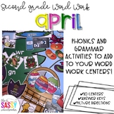 April Second Grade Literacy Centers