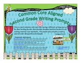 April Second Grade Writng Prompts and Journal Pages (Common Core Aligned)