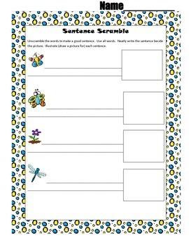 April Sentence Scramble