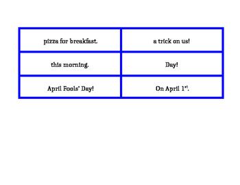 April Sentence Shuffles