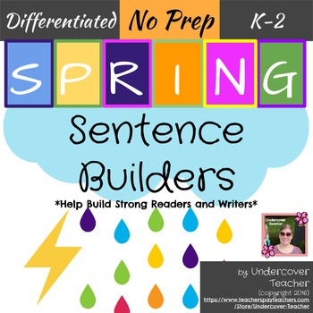 Spring Sentence Sight Word Builders {No Prep}