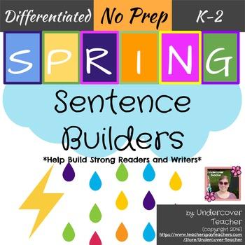 Spring Sentence Sight Word Builders {No Prep}