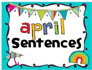 April Sentences - Daily 5 - Centers - Writer's Workshop Spring