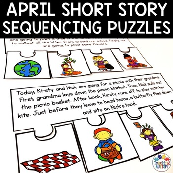 April Short Story Sequencing Jigsaws