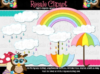 April Showers 1 ClipArt - Commercial Use