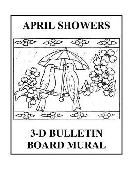 April Showers 3-D Bulletin Board Mural