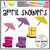 Umbrella and Rain Boot Clipart
