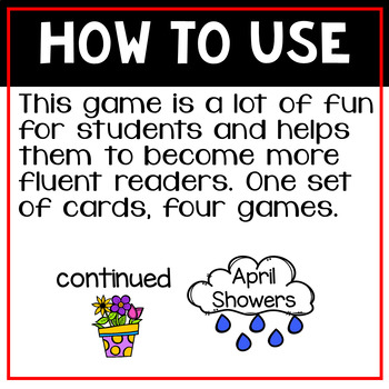 Instant Words a Sight Word Game Set Eight