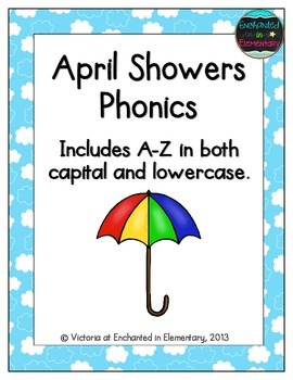 April Showers Alphabet! Letter and Sound Recognition Game