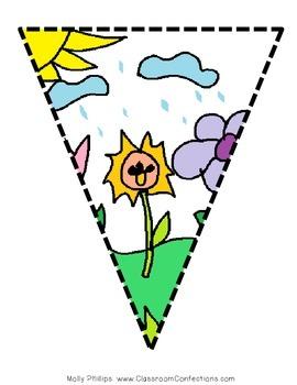 Class Decor: April Showers Banner