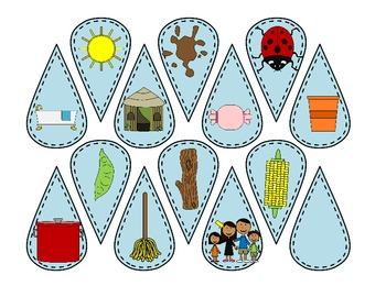 April Showers! Beginning and Ending Sound CVC Word Literacy Centers