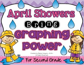 April Showers Bring Graphing Power: Line Plot, Bar, and Pictographs! (2nd Grade)