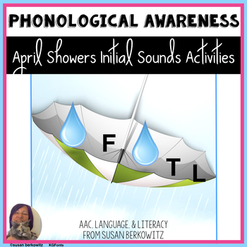 April Showers Bring Initial Sounds Games & Activities for Early Literacy