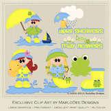 April Showers Bring May Flowers Clip Art Graphics
