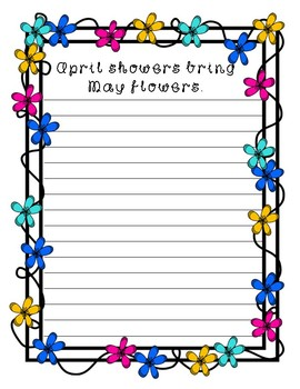 April Showers Bring May Flowers ~ Creative Writing