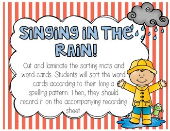 April Showers Bring May Flowers Word Work Pack