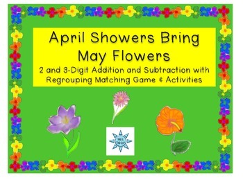 April Showers Bring May Flowers: + and - Games and Activities