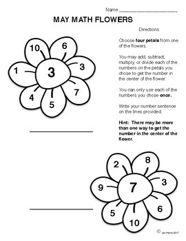 April Showers Bring May Math Flowers