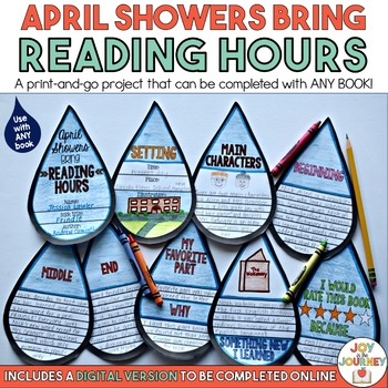 Book Project for ANY Book: April Showers Bring Reading Hours