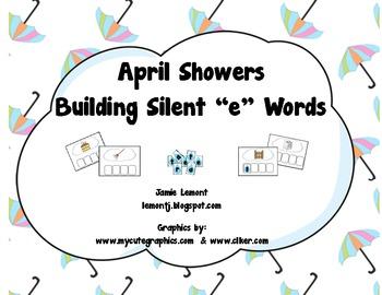 """April Showers Building SIlent """"e"""" Words"""
